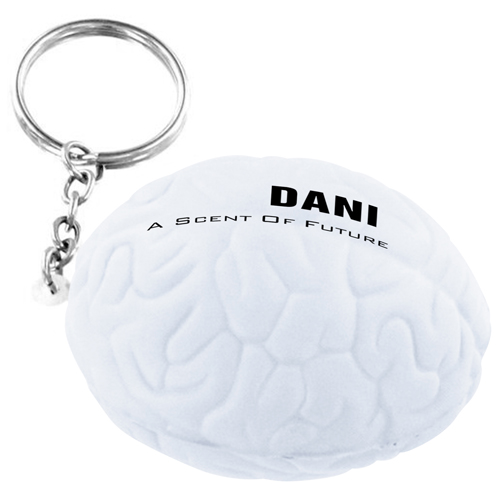 Brain Shape Stress Ball Key Chain