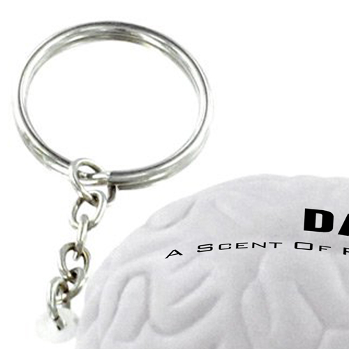Brain Shape Stress Ball Key Chain  Image 2