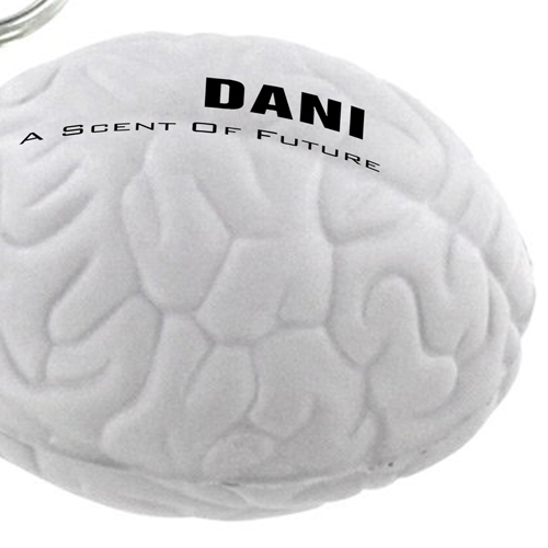 Brain Shape Stress Ball Key Chain  Image 3