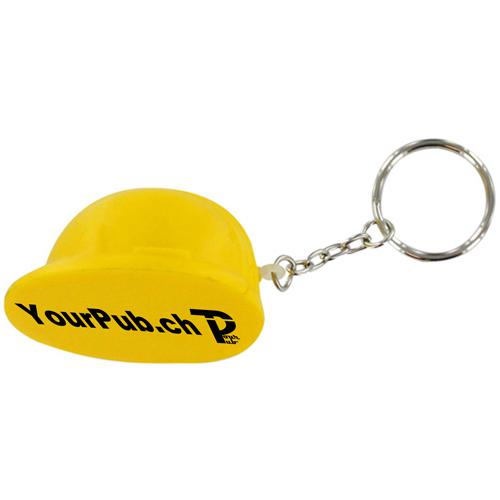 Hard Hat Stress Ball Keychain Image 1