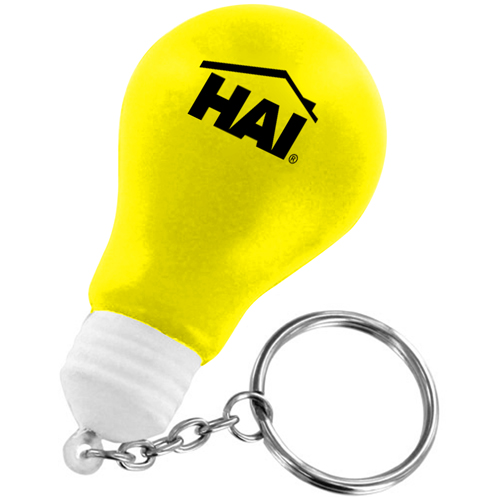 Creative Light Bulb Stress Keychain