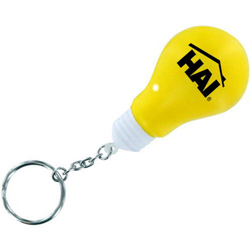Creative Light Bulb Stress Keychain Image 1
