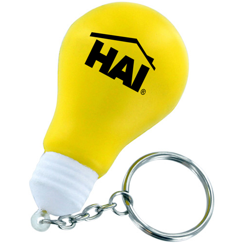Creative Light Bulb Stress Keychain Image 2