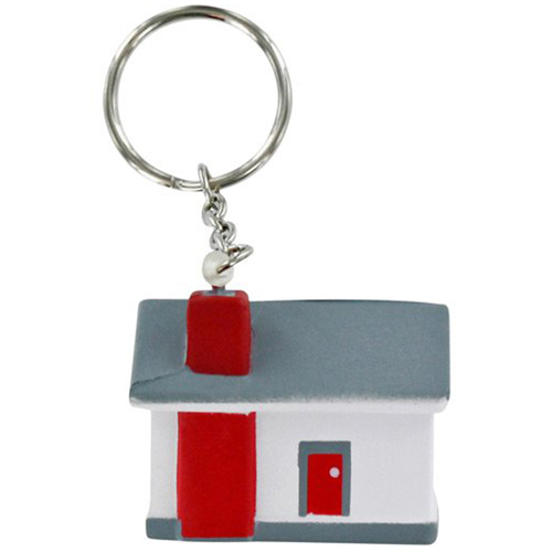 House Stress Ball Key Chain Image 1