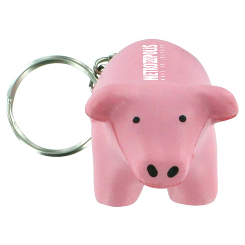 Pig Toy Stress Key Chain  Image 1