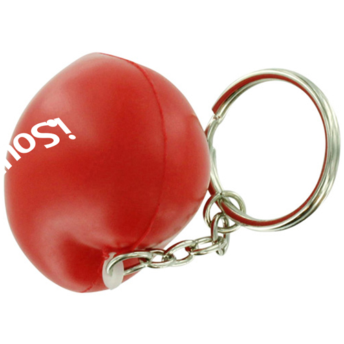 Valentine Heart Shaped Stress Ball Keychain Image 1