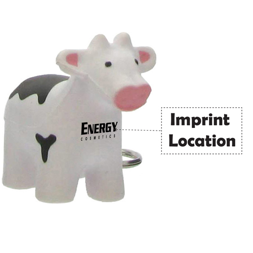 Cow Stress Reliever Key Tag Imprint Image