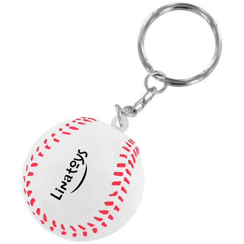 Sports Baseball Stress Key Chain