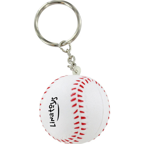 Sports Baseball Stress Key Chain Image 2