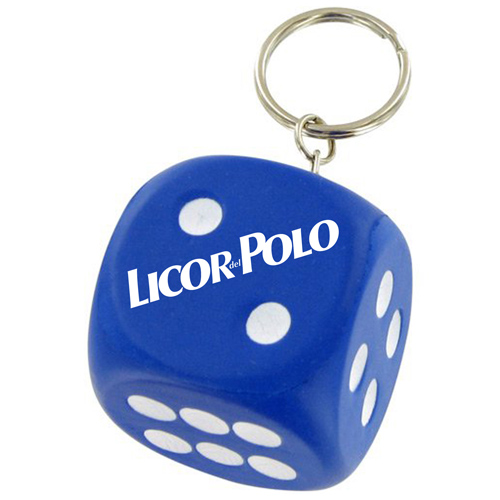Sports Dice Stress Ball Keychain Image 1