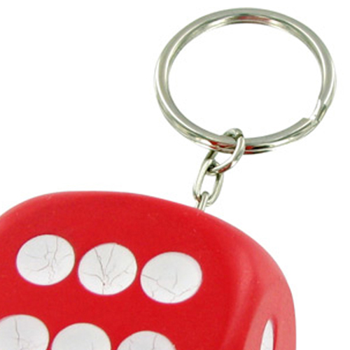 Sports Dice Stress Ball Keychain Image 2