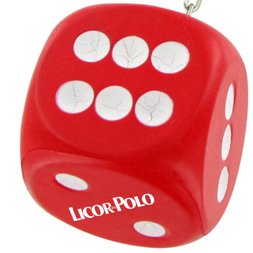 Sports Dice Stress Ball Keychain Image 3