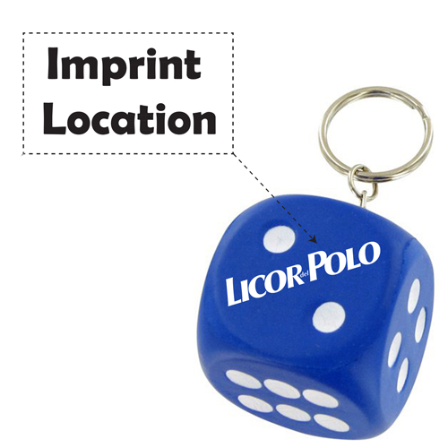 Sports Dice Stress Ball Keychain Imprint Image