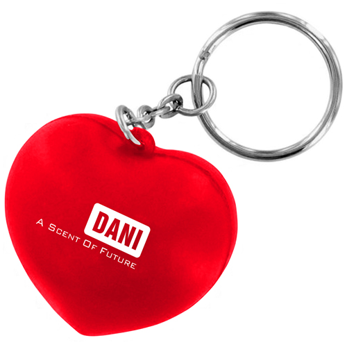Heart Shaped Stress Ball Keychain