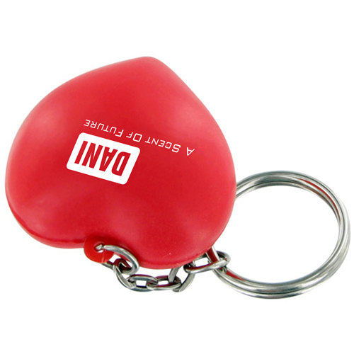 Heart Shaped Stress Ball Keychain Image 2