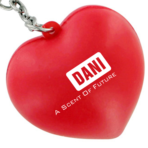 Heart Shaped Stress Ball Keychain Image 4