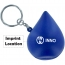Drop Shaped Stress Ball Keychain Imprint Image