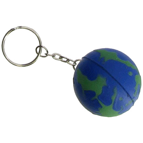 Earth Ball Stress Ball Keychain Image 1