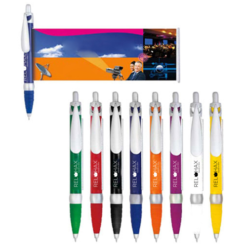 Retractable Ballpoint Banner Pen