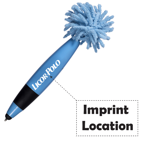 Mini Retractable Mop Topper Pen Imprint Image