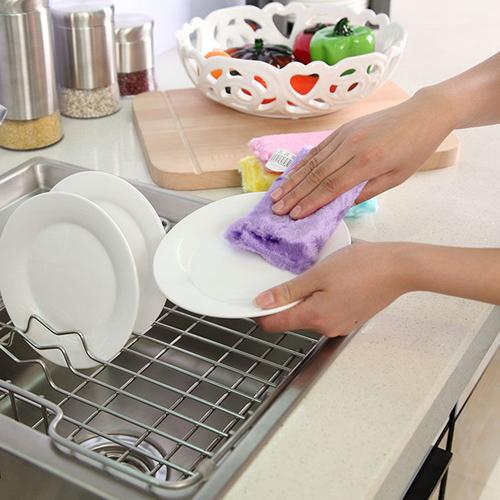 Kitchen Bamboo Fiber Sponge Scrubber Image 1
