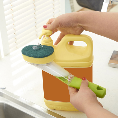 Kitchen Dish Cleaning Brush With Decontamination Handle Image 2