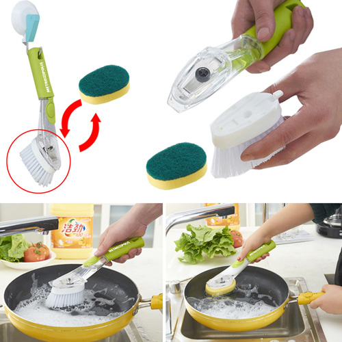 Kitchen Dish Cleaning Brush With Decontamination Handle