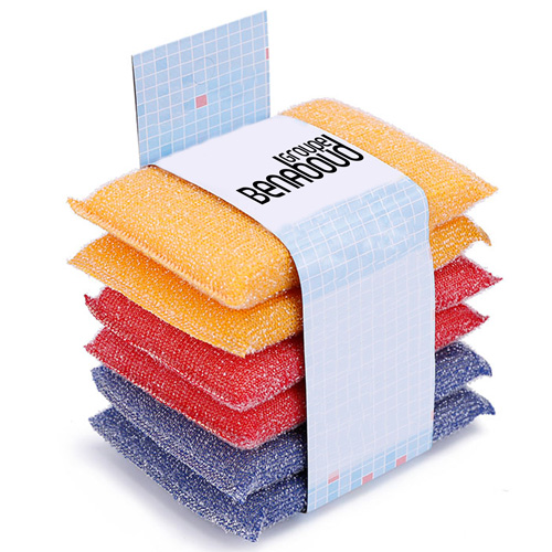 Polyester 6 Pieces Magic Kitchen Cleaning Sponge
