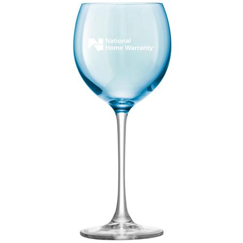 Polka Wine Glass Pastel Image 1