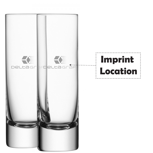 Bar Long Drink Clear Glass Imprint Image