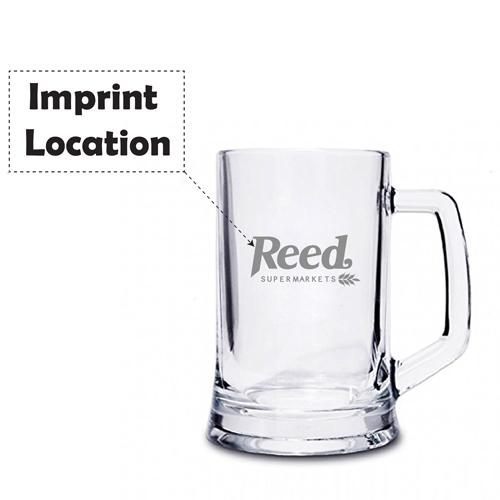 Crystal Pint Tankard With Handle Imprint Image
