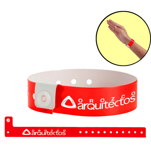 Fashion Disposable Vinyl ID Wristband