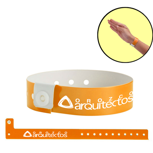 Fashion Disposable Vinyl ID Wristband Image 2