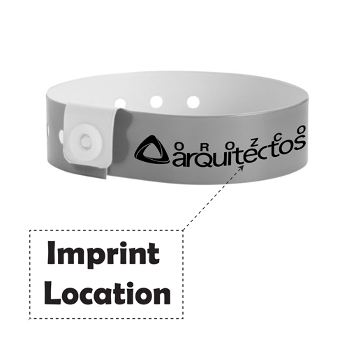 Fashion Disposable Vinyl ID Wristband Imprint Image