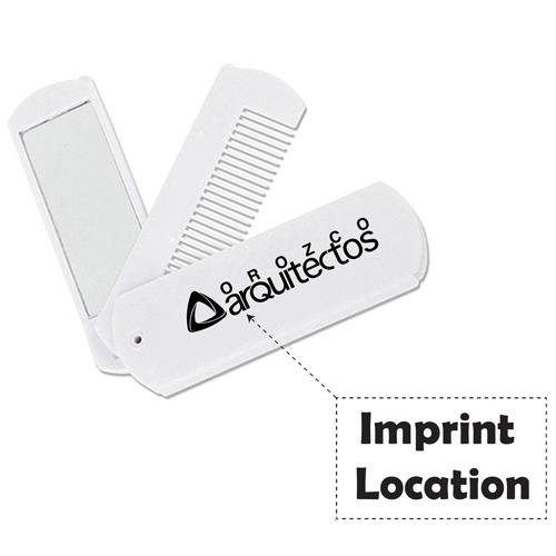 Folding Swivel Comb With Mirror Imprint Image
