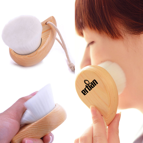 Head Wood Face Cleaner Brush
