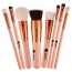Wooden 8 Piece Makeup Brushes Set Image 2