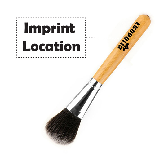 Professional Cosmetic Bamboo Handle Brushes Imprint Image