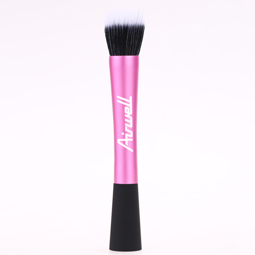 Professional Pink Flat Top Makeup Brush Image 1