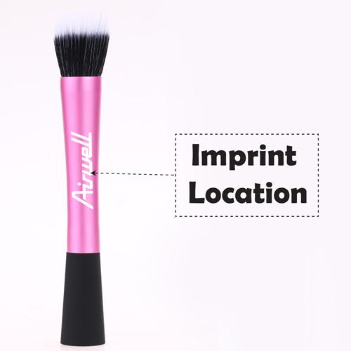 Professional Pink Flat Top Makeup Brush Imprint Image