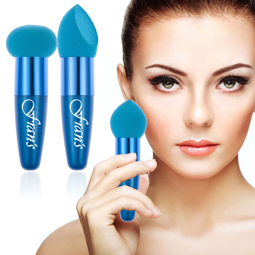Makeup Sponge Puff Set With Handle Image 3