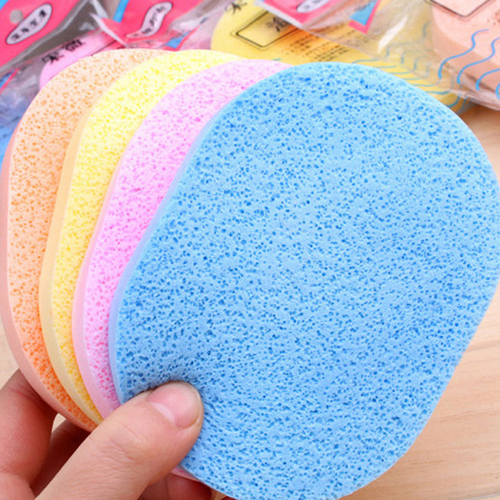 Fiber Face Makeup Cleaning Sponge Image 5