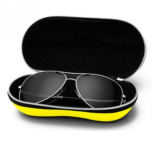 Portable Fiber Zipper Glasses Case