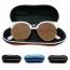 Portable Fiber Zipper Glasses Case Image 1