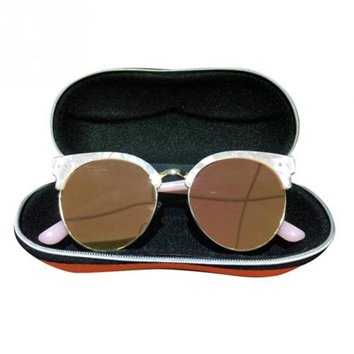 Portable Fiber Zipper Glasses Case Image 2
