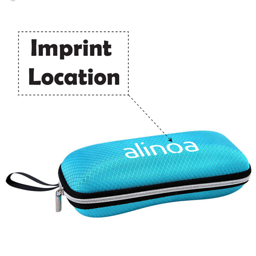 ABS Zipper Glasses Case Imprint Image