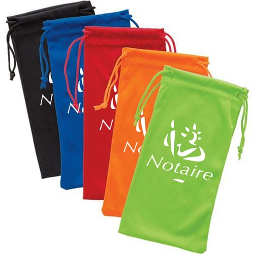 Polyester Sunglass Drawstring Pouch