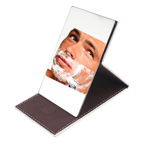 Stainless Steel Foldable Men and Women Cosmetic Mirror Image 1