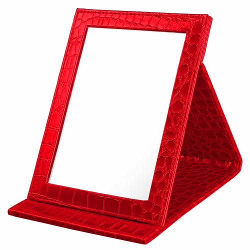 Alligator Pattern Portable Folding Mirror