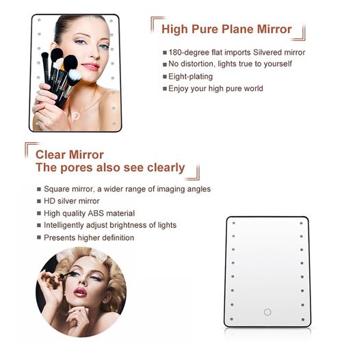 Portable 16 LEDs Light Makeup Mirror Image 2